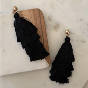 BOGO! Black Layered Tassel Earrings